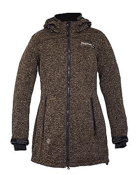 DEPROC active Abrigo de Forro Polar Mujer Elkford Long Jacket Lady: Amazon.es: Ropa y accesorios