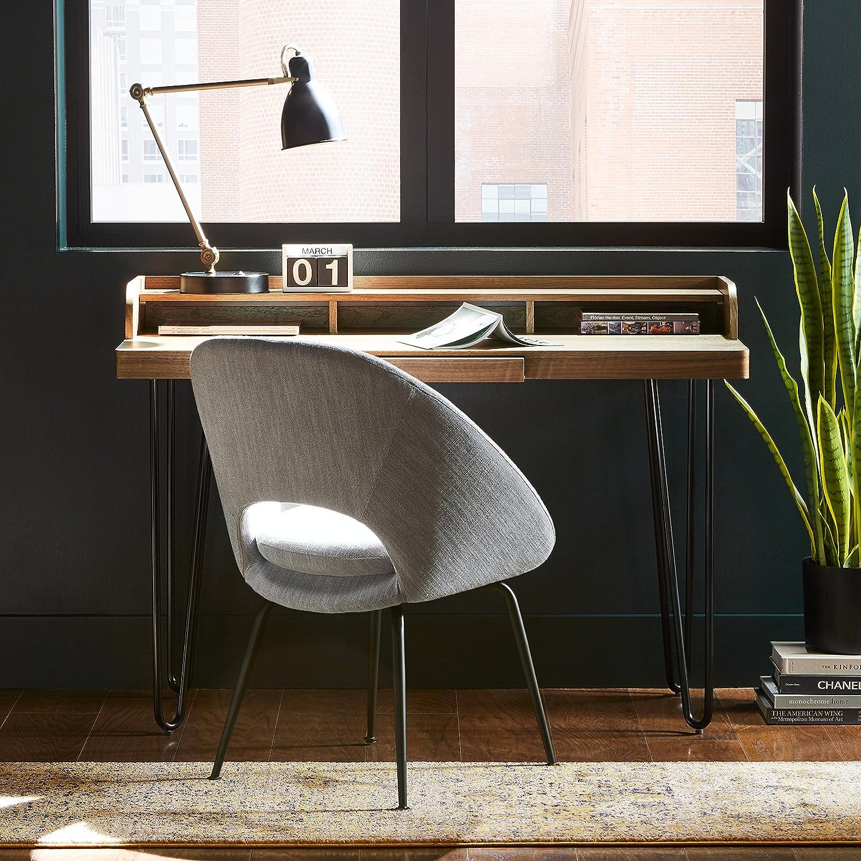 Rivet Hairpin Wood /& Metal Table Walnut//Black 40 x 120 x 75cm