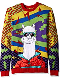 Blizzard Bay Mens Cool 90's Llama Ugly Christmas Sweater Sweater