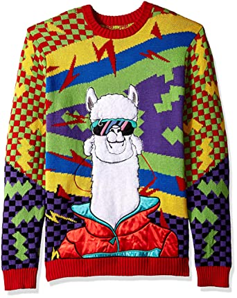 Llama Christmas Sweater.Blizzard Bay Mens Cool 90 S Llama Ugly Christmas Sweater Sweater