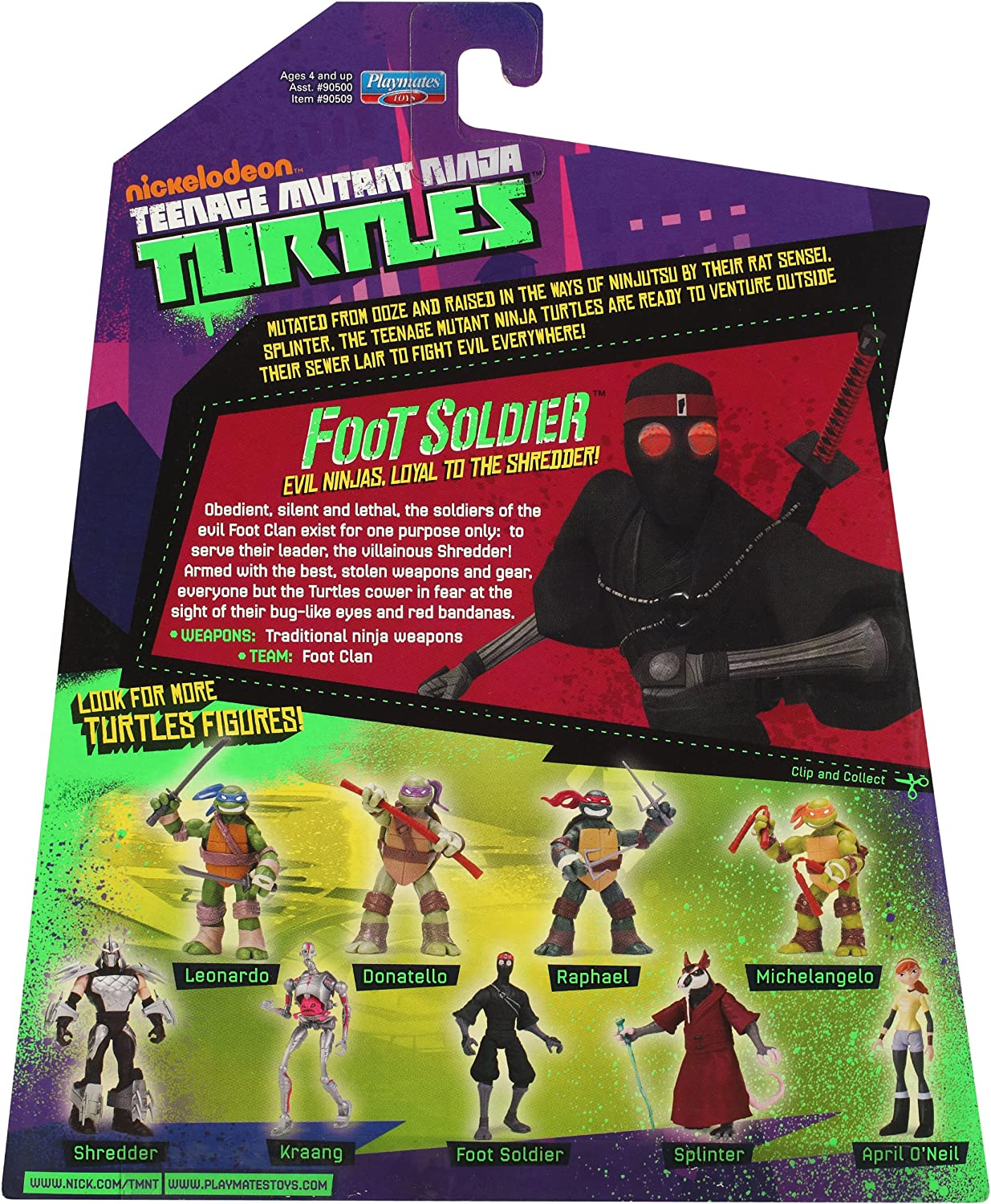 Amazon.com: Teenage Mutant Ninja Turtles Foot Soldier: Toys ...