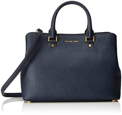 MICHAEL Michael Kors Women s Savannah Lg Satchel Admiral Handbag ... a2e758f7adb4d
