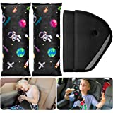 4Pack Seatbelt Pillow Car Seat Belt Covers, Universe Cartoon Pattern Adjust Vehicle Shoulder Pads Safety Belt Protector Soft