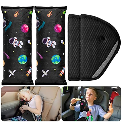 R HORSE 4Pack Seatbelt Pillow Car Seat Belt Covers - Four-in-One