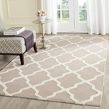 safavieh tapis tuft a la main cam121j beige ivoire 121 x 182 cm amazonfr cuisine maison - Tapis Beige