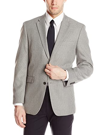 Tommy Hilfiger Men's PV Sport Coat Houndstooth, Grey, 52 Regular ...