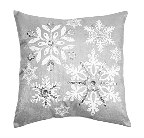 Strange Comfy Hour 14X14 Silver Snowflake Accent Pillow Throw Pillow Bright Cushion Ocoug Best Dining Table And Chair Ideas Images Ocougorg
