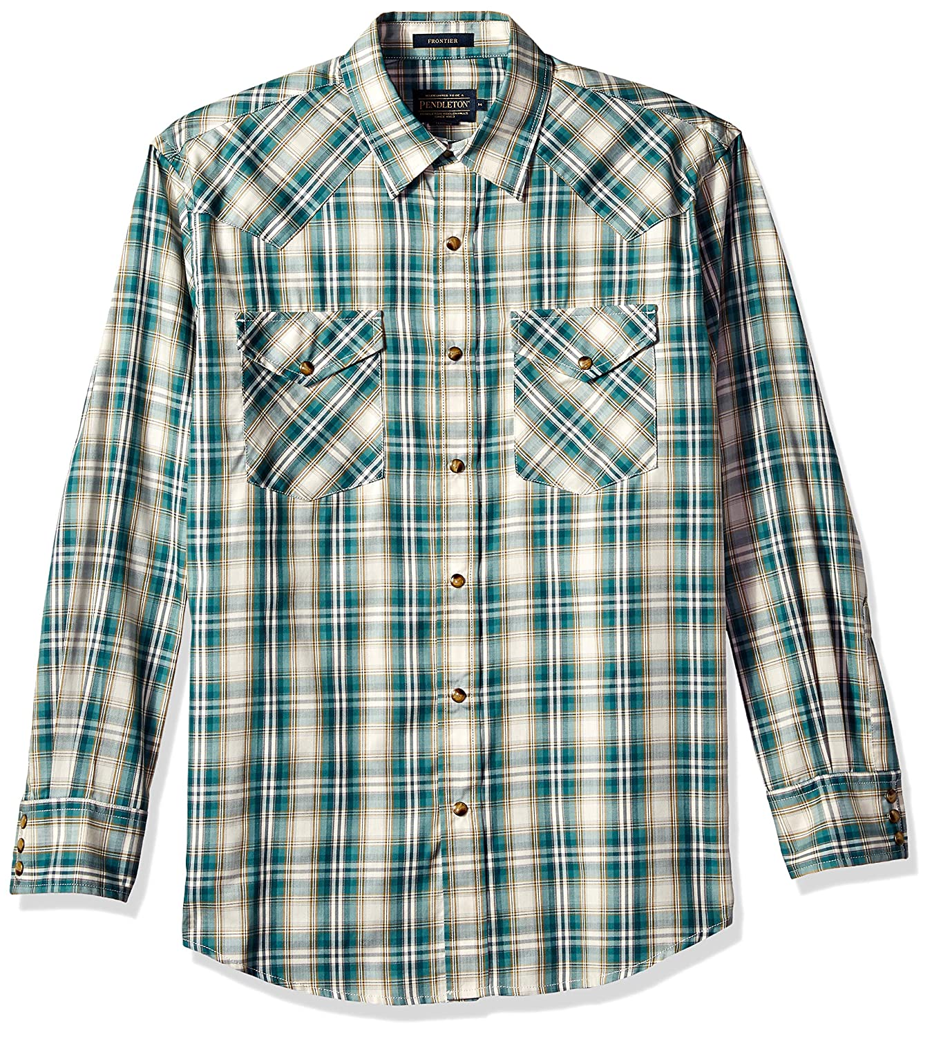 Pendleton Mens Long Sleeve Button Front Classic-fit Frontier Shirt Button Down Shirt