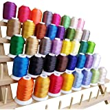 TAOindustry Embroidery Thread Polyester Spools - 550 Yards (500M) per Spool, Compatible to Brother Singer Babylock Janome Singer Pfaff Husqvarna Bernina and Sewing Machines, 40 Pieces + 2 Features