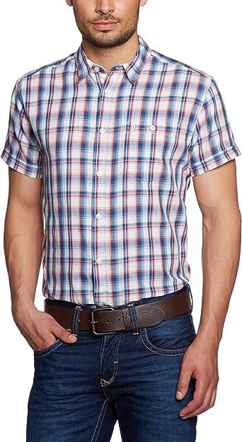 Wrangler - Camisa a cuadros de manga corta para hombre, talla ...