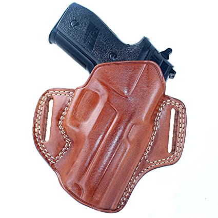 Premium The Ultimate Leather OWB Pancake Holster Open Top Fits Sig P320 9mm  Subcompact 3 55