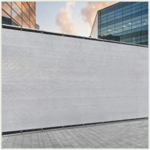 ColourTree 6' x 50' Grey Fence Privacy Screen Windscreen Cover Fabric Shade Tarp Netting Mesh Cloth - Commercial Grade 170 GSM - Cable Zip Ties Included - We Make Custom Size