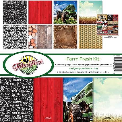 Multi Color Palette Reminisce Farmers Market Collection Scrapbook KIT Paper Crafts