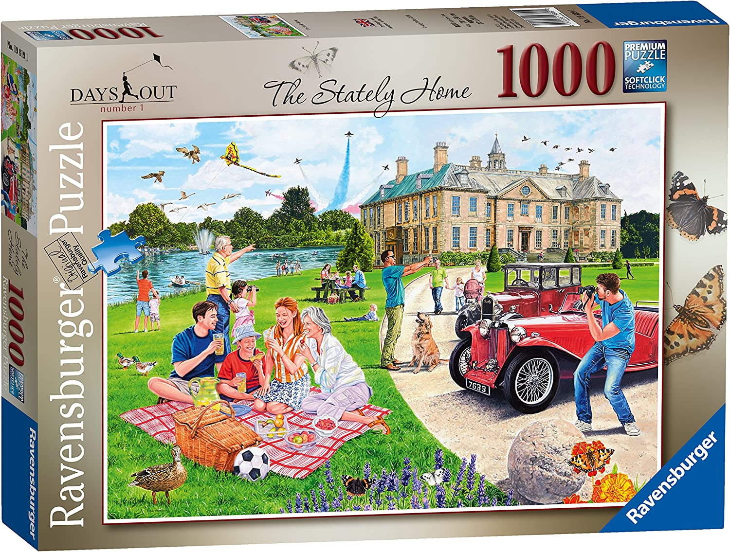 Ravensburger 19819 Days Out No.1 The Stately Home 1000 Pieces Jigsaw Puzzle