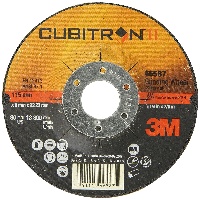 "5//8-11 Thread 9/"" x 1//4/"" Quick Change 87153-Q 3M Cubitron II Grinding Wheel"