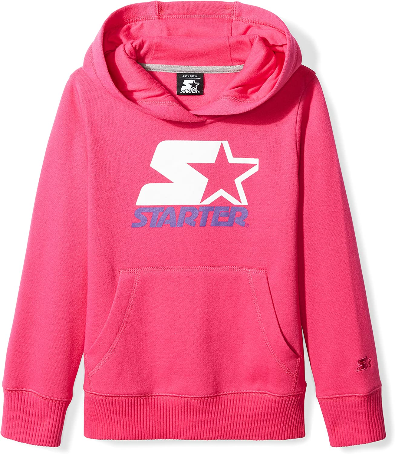 Starter Girls' Pullover Multi-Color Logo Hoodie,  Exclusive: Clothing