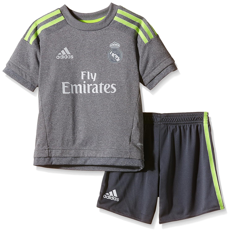 adidas Real Madrid Away Mini Kit Children Clothing Set Children' s Grey/Solar Yellow 98 (EU) S12625
