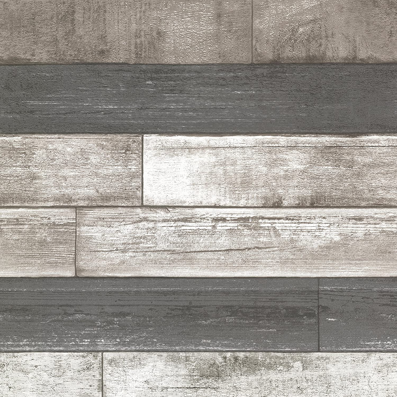 Brewster 2686 20198 Dustin Grey Wood Wallpaper