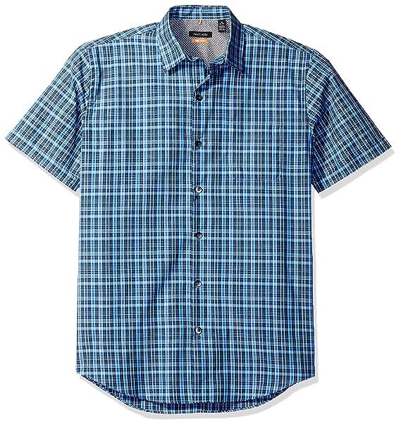 bf4d682f Van Heusen Men's Air Short Sleeve Shirt, Deep Blue Faded Cadet, Small at Amazon  Men's Clothing store: