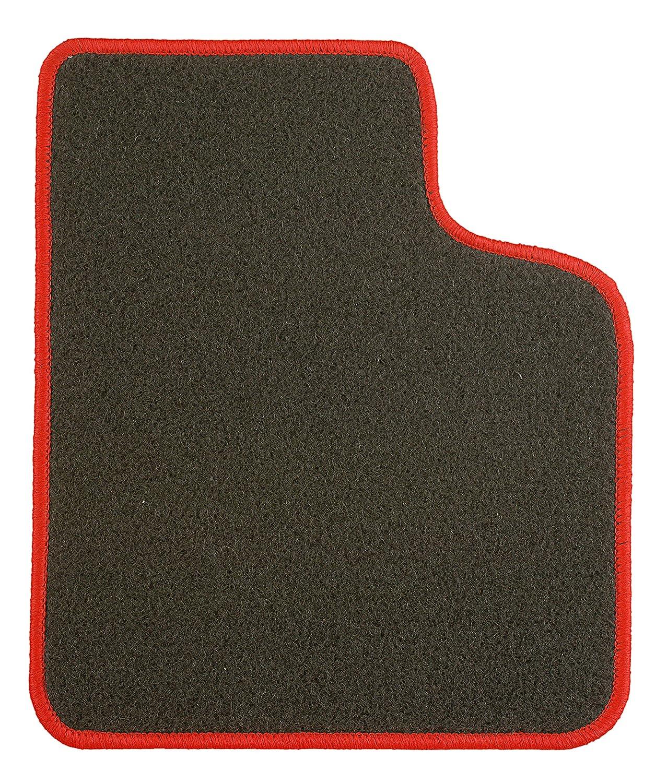 CaTex 30703250600nr Classic Tapis, Noir/Rouge, Set de 4
