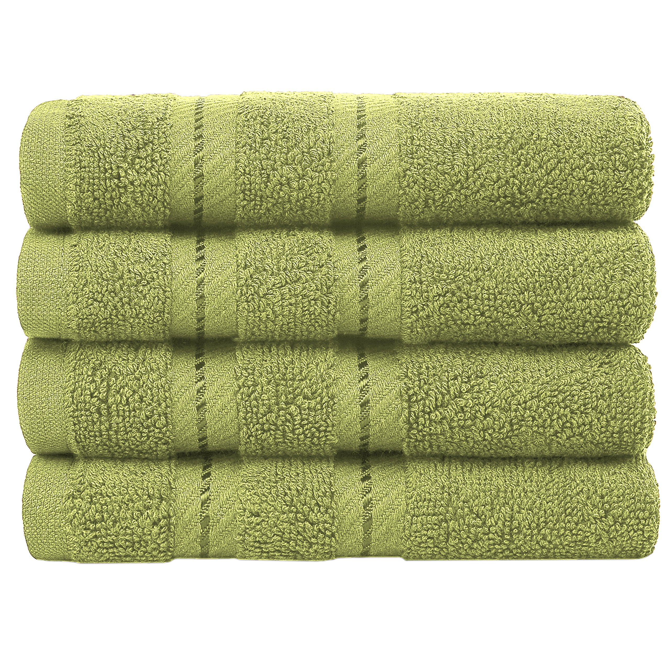 Premium, Turkish Towel Set, Luxury Hotel & Spa Towel Sets Maximum Softness Absorbency American Soft Linen (Washcloth Set, Pistachio Green)