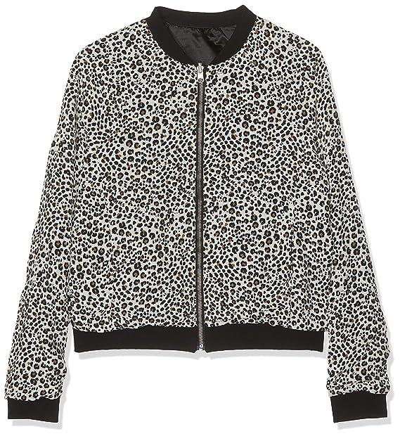 IKKS Junior Bomber Reversible Noir/Blanc Print Leopard ...