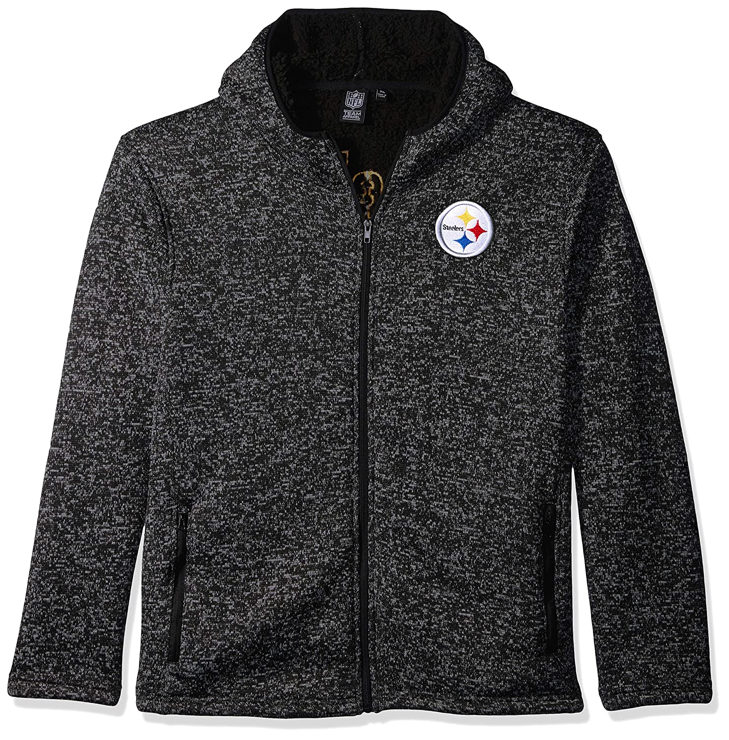 3a75a868 Buy Icer Brands NFL Pittsburgh Steelers Men's Sherpa Full Zip Cozy Fleece  Hoodie Sweatshirt, X-Large, Black Online at Low Prices in India - Amazon.in