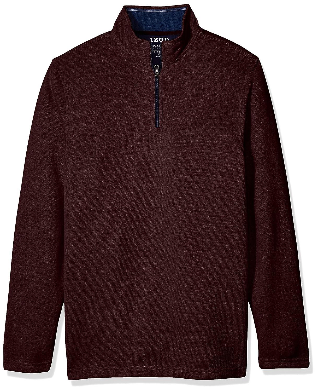 Izod Mens Big-Tall Big and Tall Saltwater Solid 1/4 Zip Sweater IZOD Men's Sportswear 45X2758