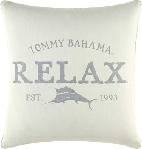Tommy Bahama Relax Throw Pillow, 18×18, Grey