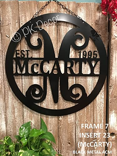Metal ACM 24\u0026quot; Monogram Door Decor - Personalized Monogram Door Hanger - Metal Last Name & Amazon.com: Metal ACM 24\
