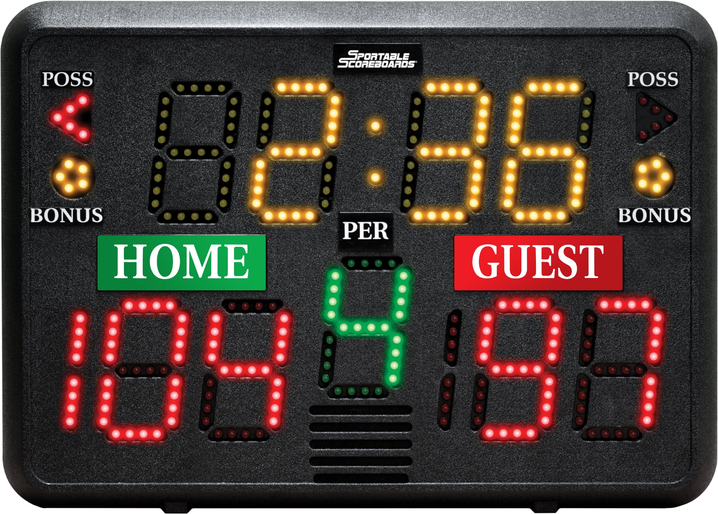 Sportable Scoreboards Multisport Indoor Tabletop Scoreboard by Sportable Scoreboards
