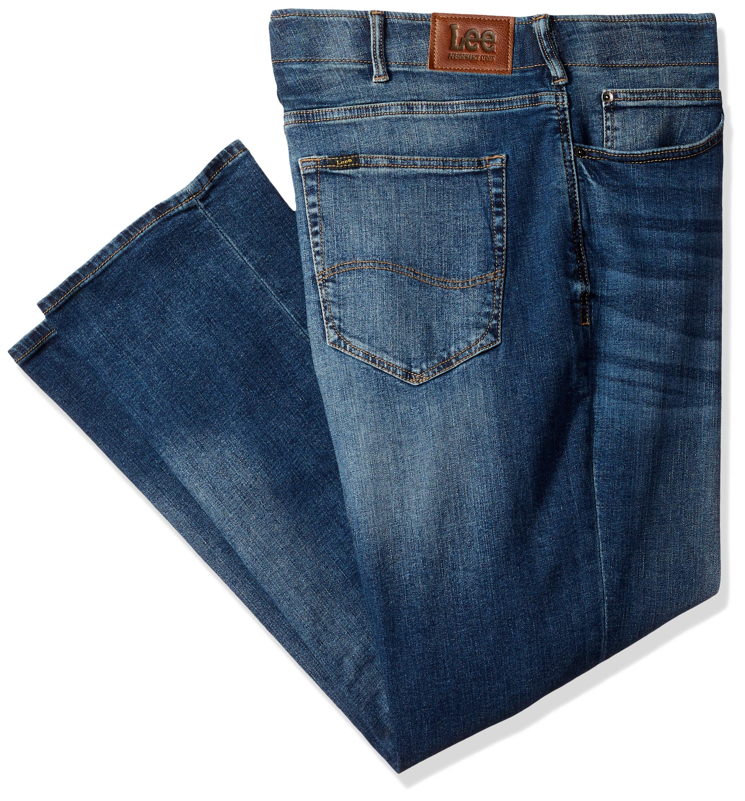 6395331a LEE Men's Big & Tall Modern Series Extreme Motion Straight Fit Jean ...