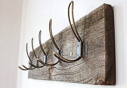 Perchero de pared rústico vintage - Percha de madera de ...