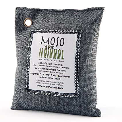 Moso Natural Air Purifying Bag. Odor Eliminator For Cars, Closets,  Bathrooms And Pet