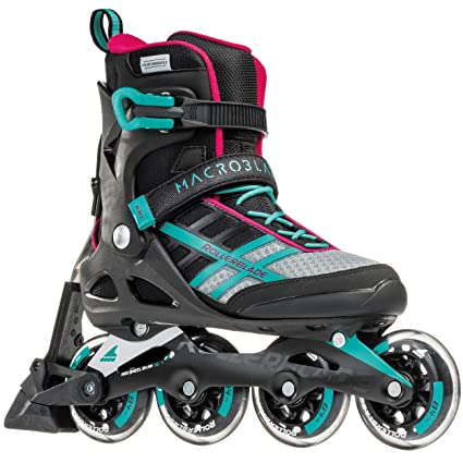 e583918b90f Amazon.com : Rollerblade Macroblade 84 ABT Women's Adult Fitness Inline  Skate, Emerald Green and Cherry, Performance Inline Skates : Sports &  Outdoors