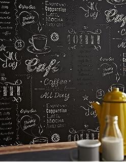 Caffe Latte Küchen Vliestapete 614947 Rasch grau beige: Amazon.de ...