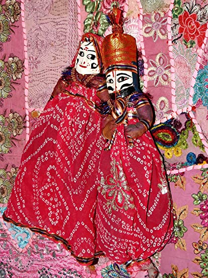 Buy Indian Traditional Puppets Pair Ethnic Decorative Hanging