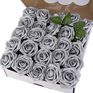 Umiss Artificial Roses Flowers Real Looking Floral Fake Flowers for DIY Wedding Centerpieces Bouquets Home Party Bridal Shower Decoration