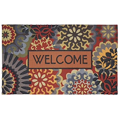 Mohawk Home Doorscapes Dimensional Scatter All All Weather Rubber Durable Non Slip Entry Way Indoor/Outdoor Welcome Door Mat, 18 x 30 Inch,
