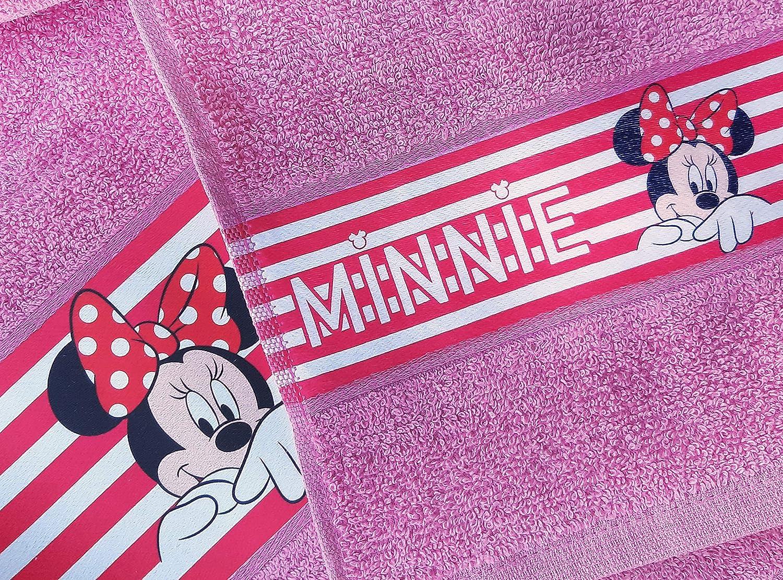 1 invitado 30 x 50 Toalla 55 x 100 Disney Minnie Topolina Toallas 100/% Rizo de Puro algod/ón Juego de 2 Piezas 1