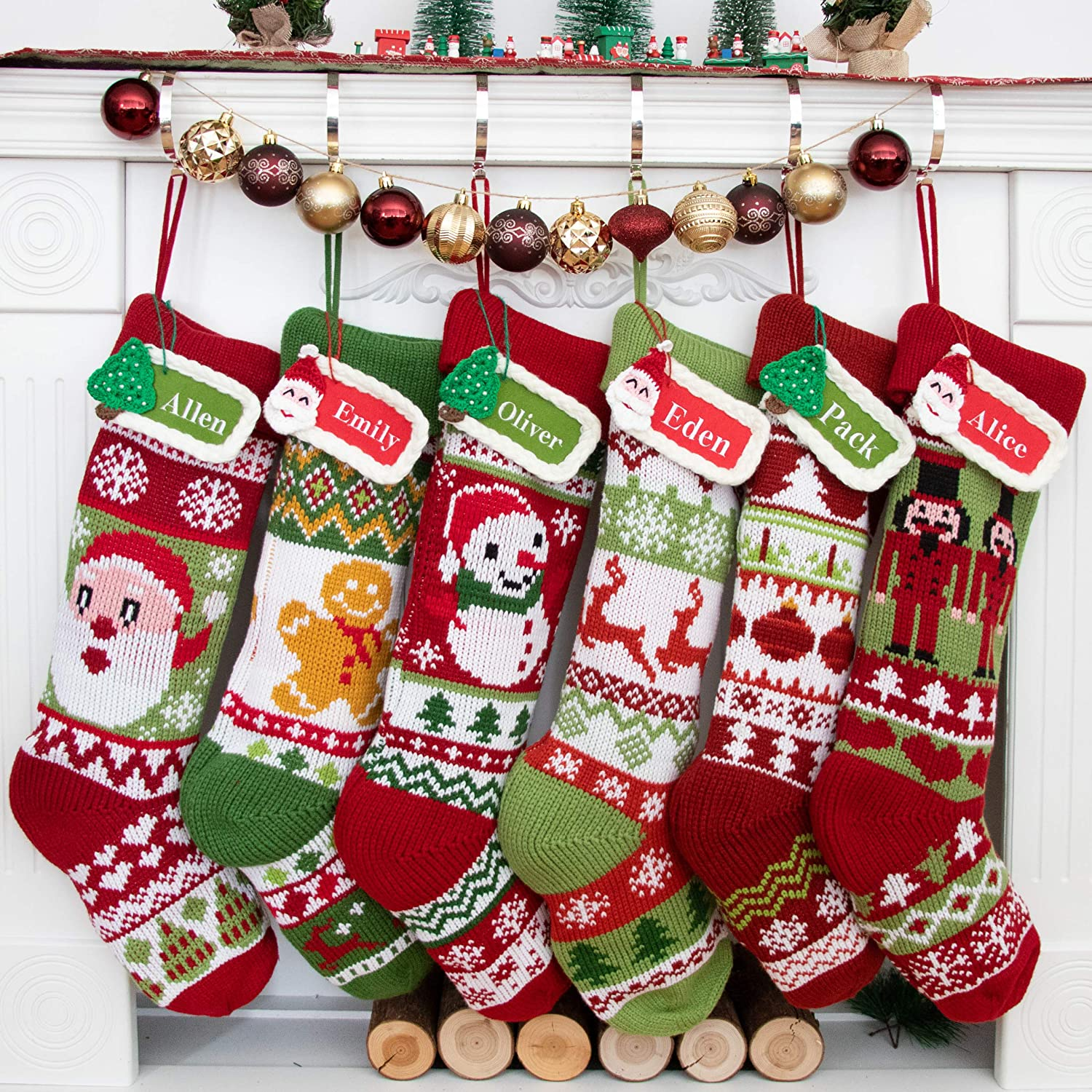 BHD BEAUTY Personalized 2019 Large Knitting Christmas Stocking for Family - DealXeed