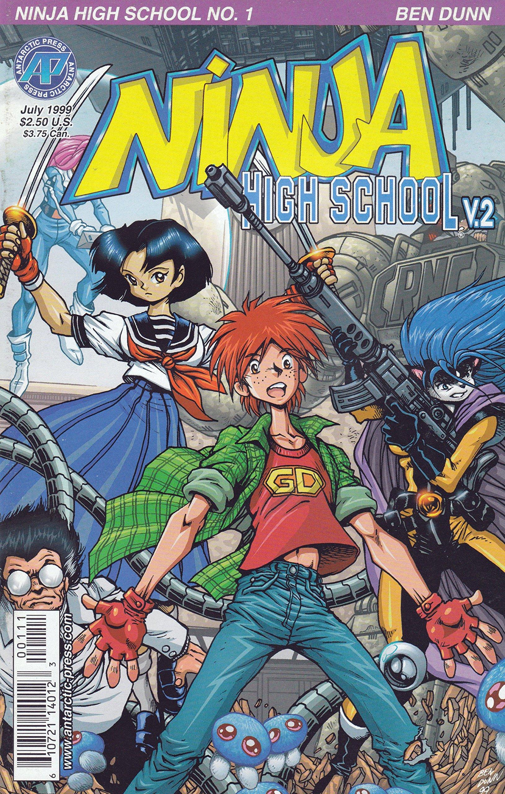 Ninja High School Comic # 1 - Antarctic Press, Volume # 2 ...