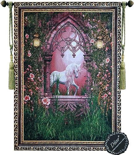 Beautiful Unicorn Fine Tapestry Jacquard Woven Wall Hanging Art Decor