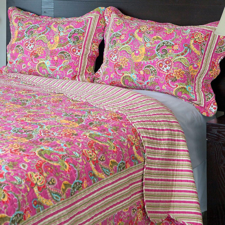 Lavish Home 3-Piece Paisley Quilt Set, King
