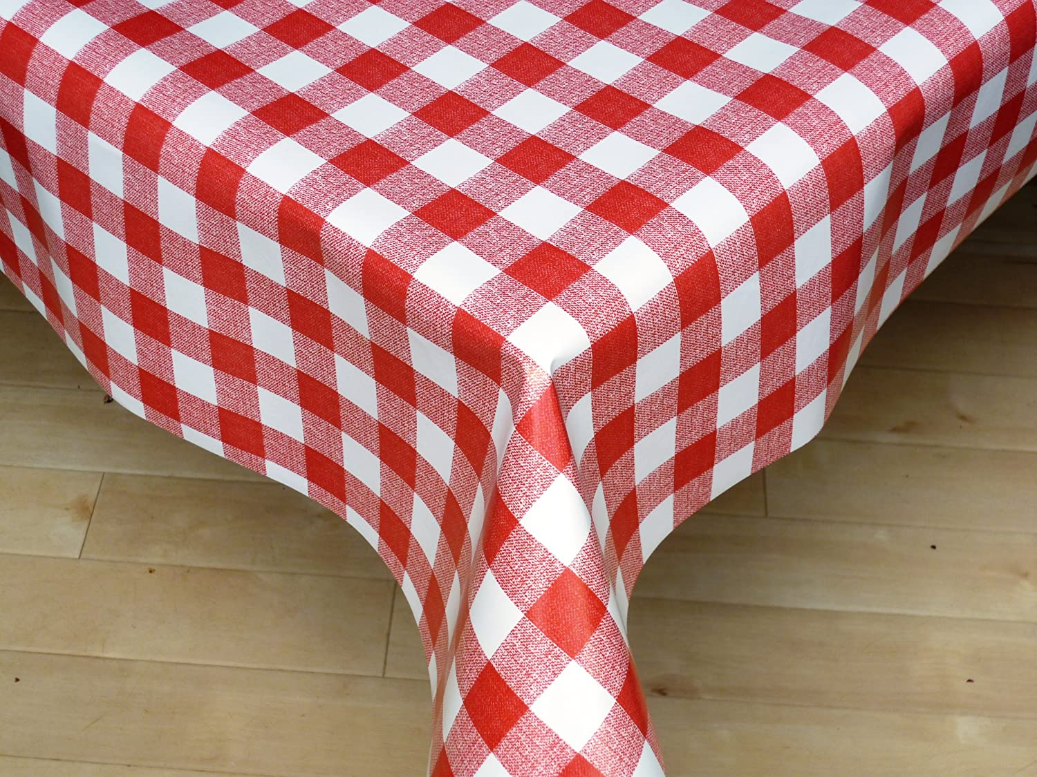 THE TABLECLOTH SHOP Red Gingham Vinyl Tablecloth Table Cover 2 Metres:  Amazon.co.uk: Kitchen U0026 Home