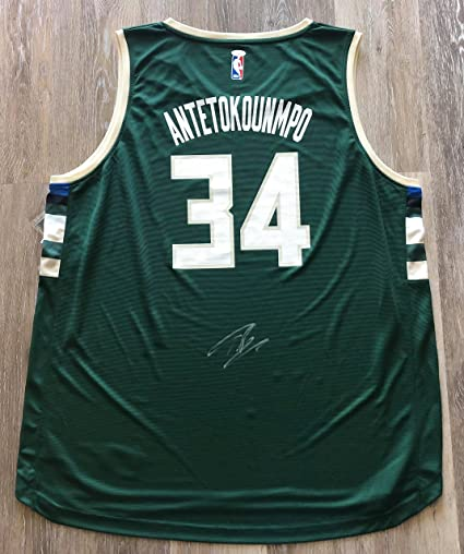 Image Unavailable. Image not available for. Color  Giannis Antetokounmpo  autographed signed jersey NBA Milwaukee Bucks ... f3e3ab7db