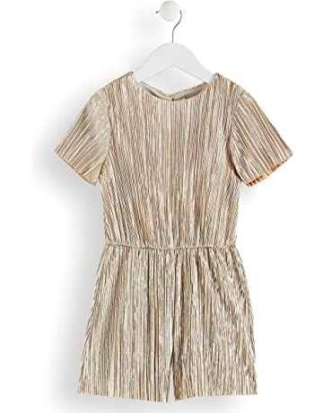 8fb5165de5 RED WAGON Girl s Metallic Pleated Playsuit
