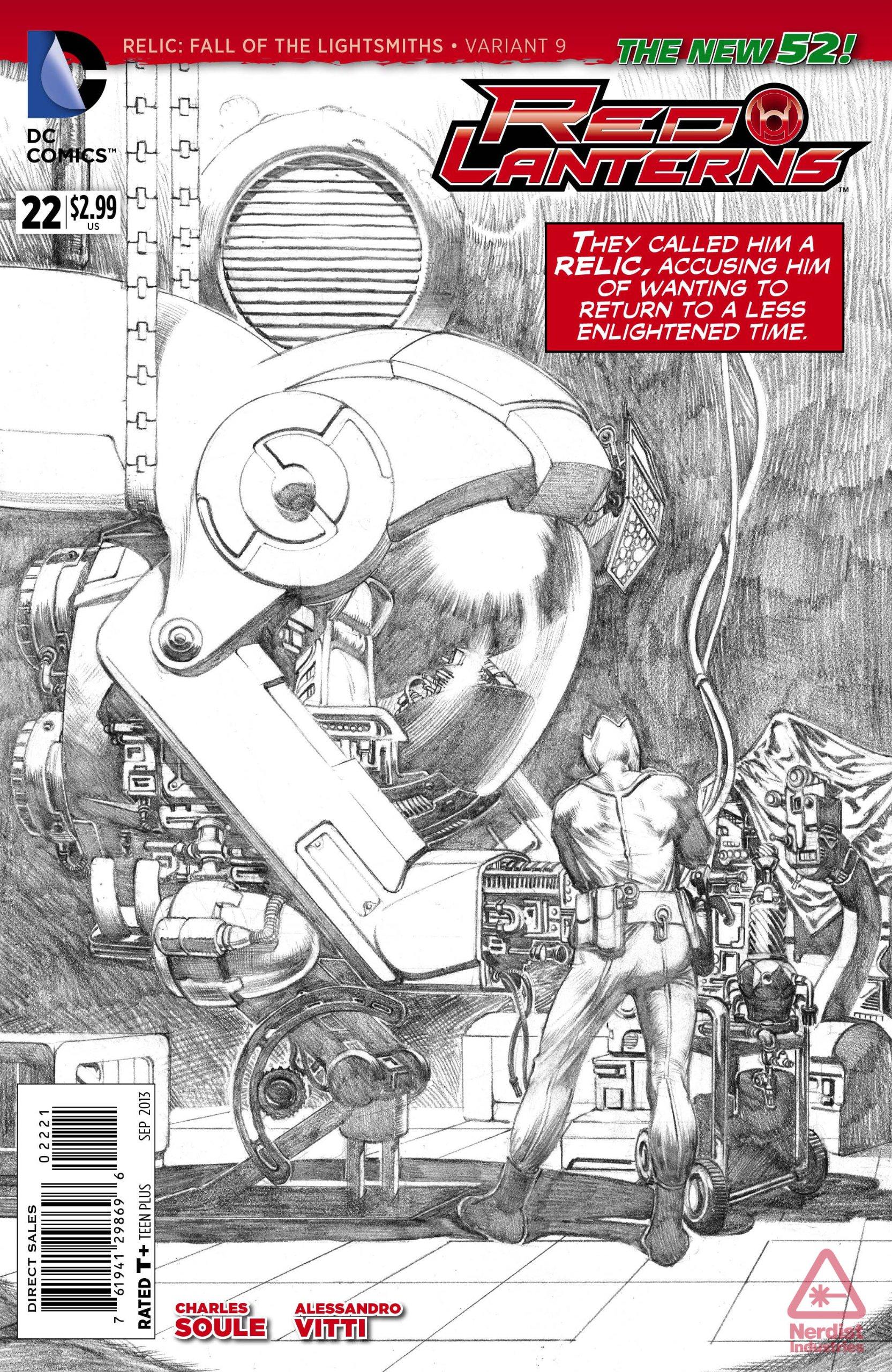 Download Red Lanterns #22 (Sketch Variant Cover) PDF