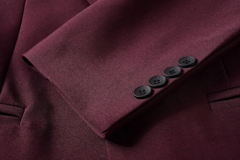 Beninos Mens Casual Sport Coat 1 Button Slim Fit Blazer Jacket