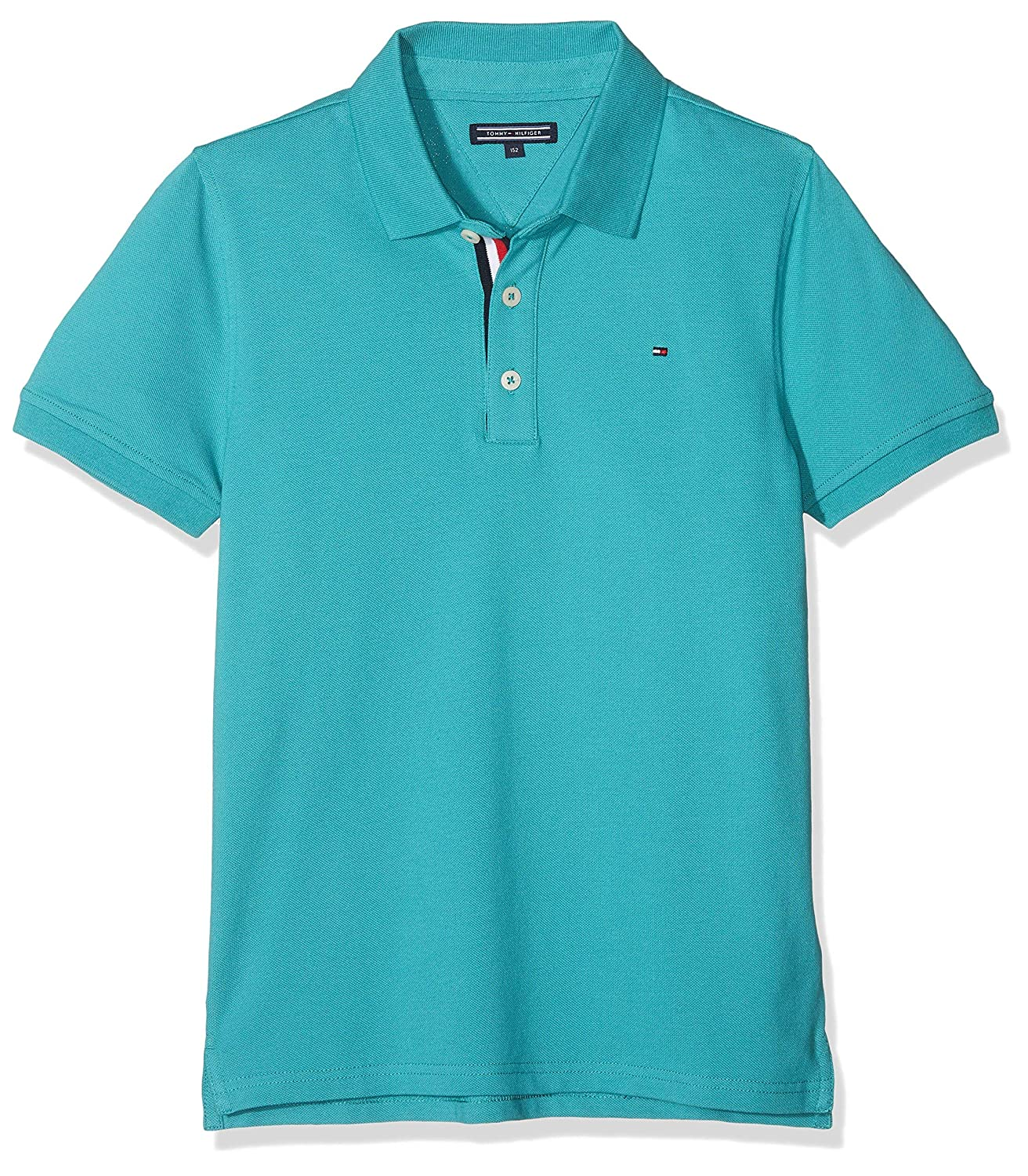 Tommy Hilfiger Essential Slim Fit Hilfiger Polo S/s, Verde (Green ...